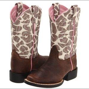 Ariat giraffe print cowgirl cowboy boots 10 1/2